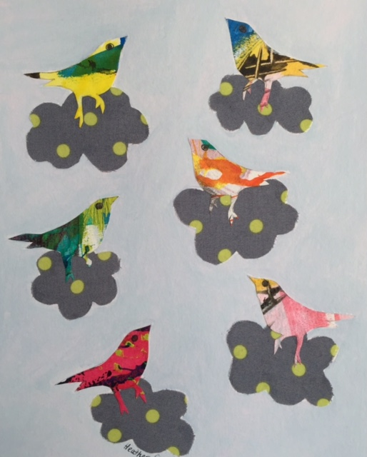 Singing Birds (14) Mixed Media on paper 29cm x 21cm