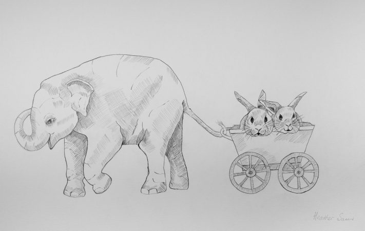 We are so lucky to have Elephant as our friend. 41cmx29cm  Pencil on paper