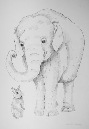 Gosh - what an interesting story! 41cmx29cm  Pencil on paper